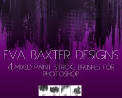 EVA BAXTER DESIGNS -- MIXED ROUGH BRUSH PS BRUSHES by EvaTakesNoPrisoners