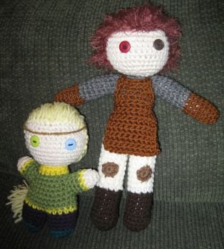 Silas and Desta dolls by righterwriter