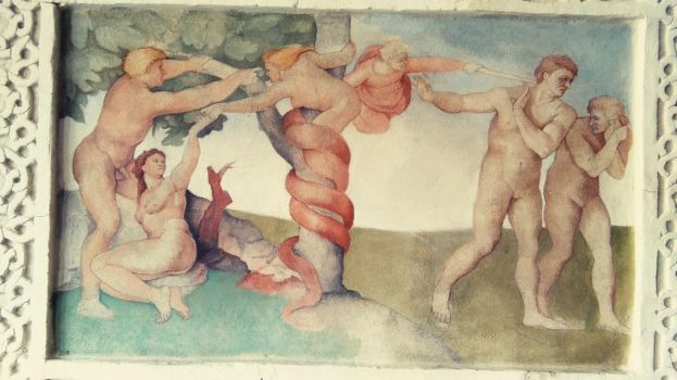 expulsion from the garden of eden copy of Michelan by beth223