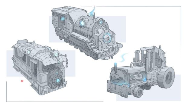 Crystal Powered Vehicles by aquanoctis