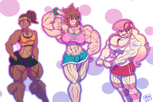 MGChaser's Girls 2017 Sketch by MGChaser
