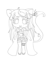 : Kiriban : Chibi for YuriKitten - Outlines by ichiipanpan