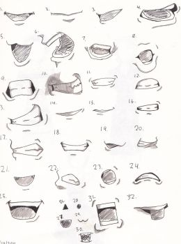 Soul Eater Mouth Study by InkWovenHeart