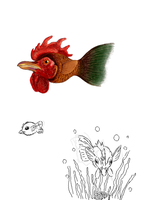 Chicken Fish by chibiki