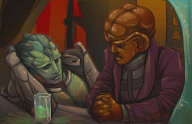 a Drell walks into a bar... by Sempaiko