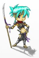My professional Chibi ninjagirl CAracter 2 by Busmann
