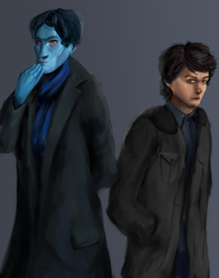 Thrawn and Vanto as Holmes and Watson (BBC vers.) by Avlum-Iami