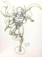 Mr Miracle commission sketch by LucianoVecchio