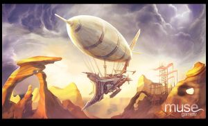 Airship in the Wastes by musegames