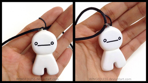 Cryaotic ( Cry ) : Sup Guy Charm Necklace . by WINGEDLESS