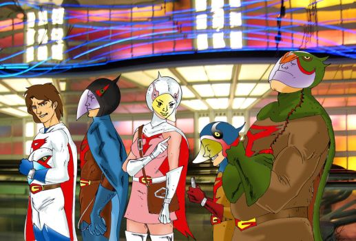 Drink'N'Draw Paris Gatchaman Final Version by radja01