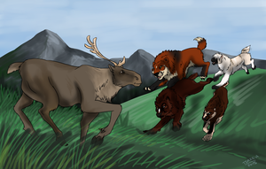 Hunting - Running with the big Dogs by tsareia