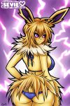 Jolteon - Pokemon Gijinka SFW (NSFW optional) by seviesphere
