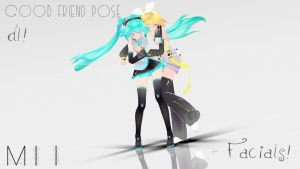 .::MMD::. Good Friend Poses DL! +Facials! by Miihh