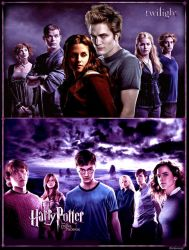 Harry Potter and Twilight by Beckanne13