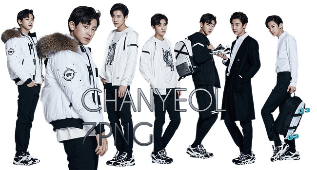 EXO Chanyeol PNG Pack {SKECHERS} by kamjong-kai