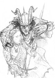 Gilgalad and Sauron by Isilion72
