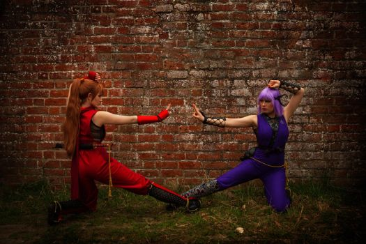 Kasumi vs Ayane by Rinaca-Cosplay