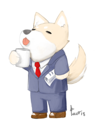 Business dog by BakaTiano