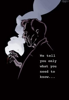 The X-files_Cigarette Smoking man by nonamefox