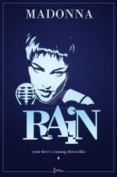 Madonna Rain - Vector Poster by smoothdog2000
