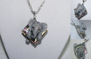 Commission: Elephant Necklace by IllusionTree