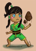 Chibi Earthbender Korra by AngelicRoyalty