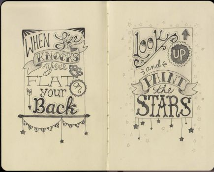 Typography - moleskine by me-tal