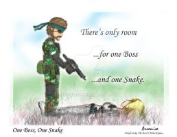 One Boss, One Snake by Arcemise