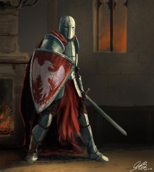 Commission Knight Painting by Entar0178
