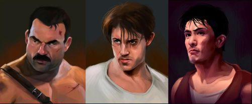 Final Fight portraits pt1 by Deimos-Remus