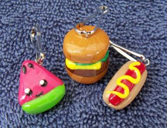 Summer Foods Clay Charms by CatWoman4ever