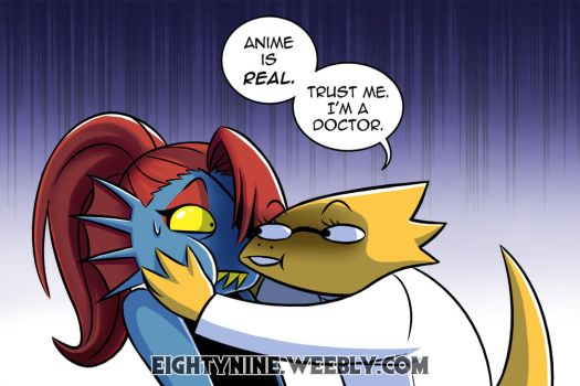 Anime is Real - Undyne x Alphys by LexyMako