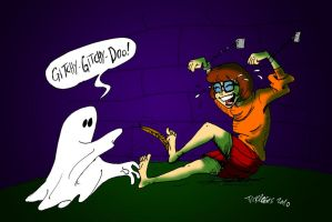 Velma in the ghostly dungeon by ticklegas