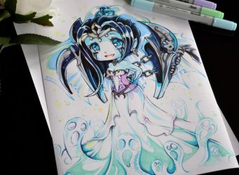 Chibi Ghostbride Morgana by Lighane