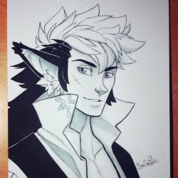 Inktober day 28 - Keaton by beacascabel