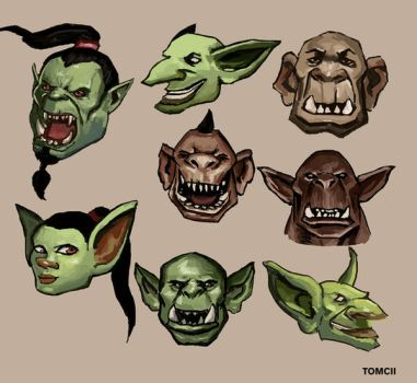 Orcs, Ogres, Goblins by Tom-Cii
