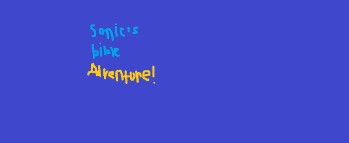 Sonic's bible Adventure Logo! by hubworld23