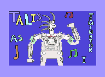A C64 Pixel Art of Talis Cosplaying As Terminator by SimonCaneplz