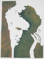 stencil of marie curie by bookebinder