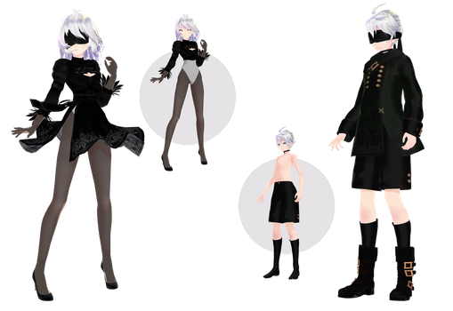 [MMD] The next models 2N and 9L X3 by HeyMisaki-chan