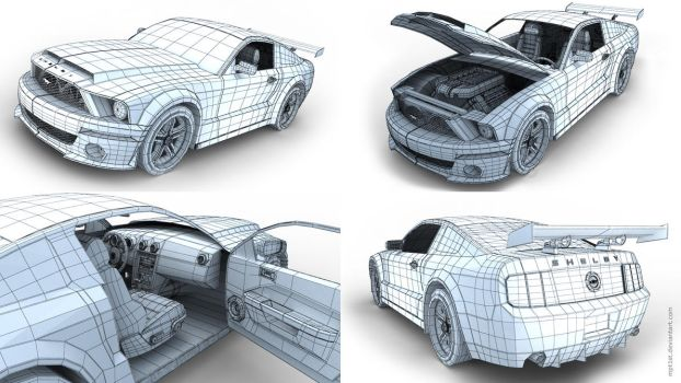 Ford Shelby GT Wireframe by mpt1st
