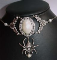 Gothic bridal necklace by Pinkabsinthe