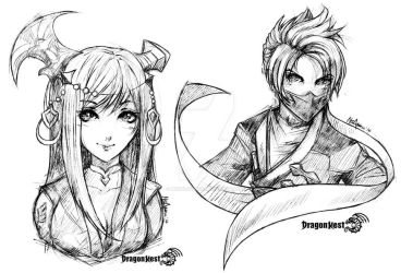 Sketch practice #DragonNest by miksketched