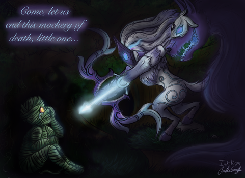 Kindred and Amumu (League of Legends Fanart) by InkRose98