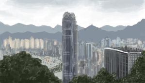 Hong Kong Skyline speed paint by Llewxam888