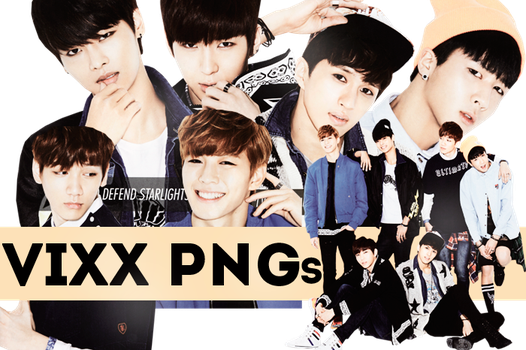 VIXX PNG PACK by NotinFiction