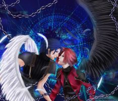 One-winged angels-GenAngeal by Abyss-Valkyrie