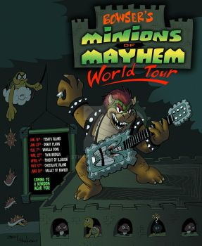 Bowser's Minions of Mayhem Concert Poster