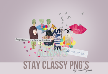 Stay classy PNG'S by overlaplines